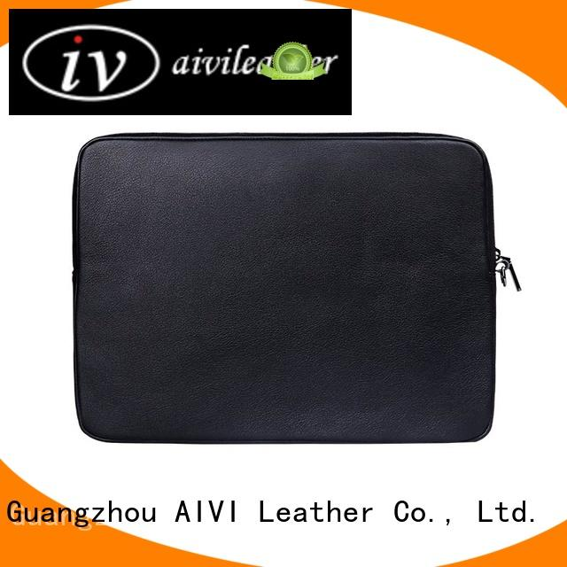 AIVI reliable leather computer case easy to carry for notebook computer
