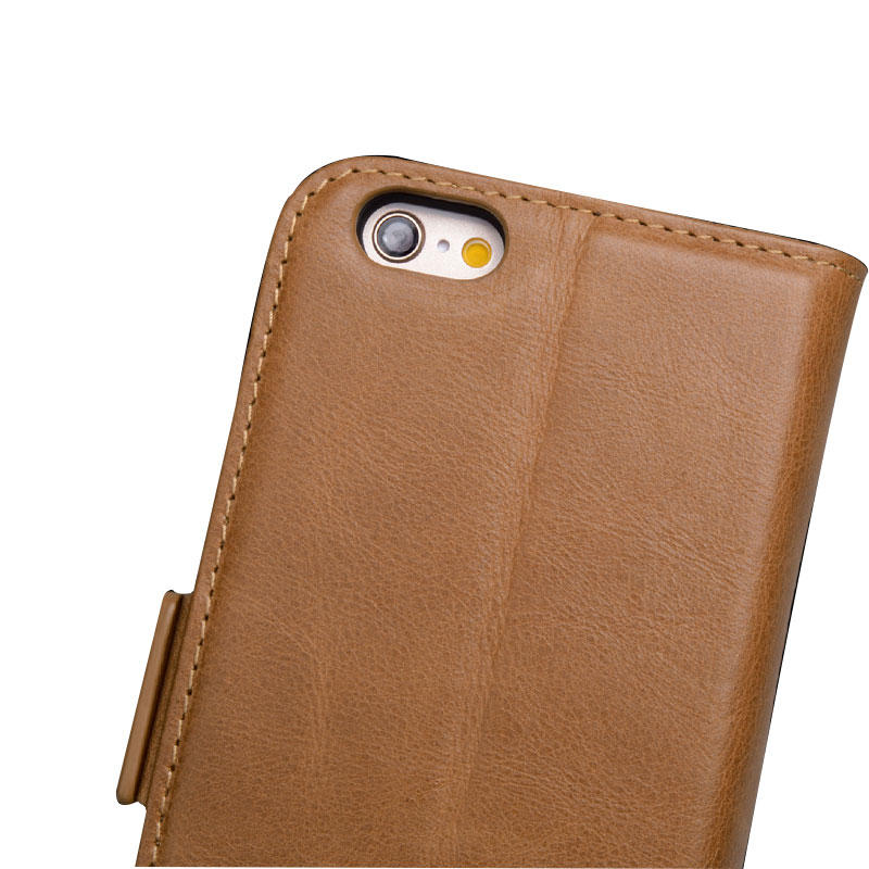 fashion brown leather iphone 6 case manufacturer for phone XS Max-2