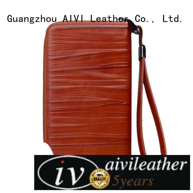 pocket leather credit card case factory for iphone XS AIVI