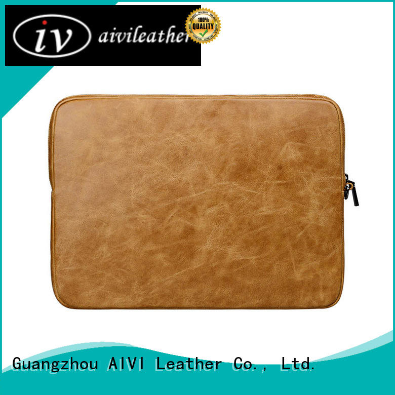 AIVI slim leather laptop carrying case air notebook computer