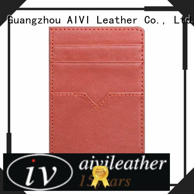 AIVI mens leather wallet with coin pocket supply for iphone X