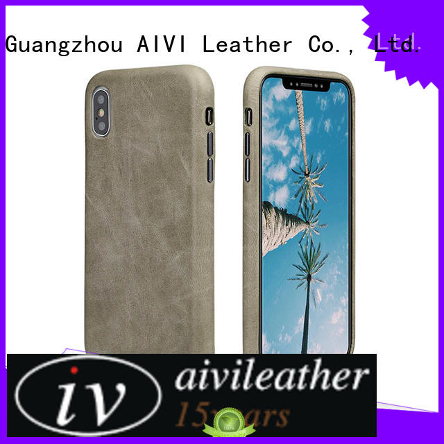 AIVI best leather iphone wallet supply for phone XS Max