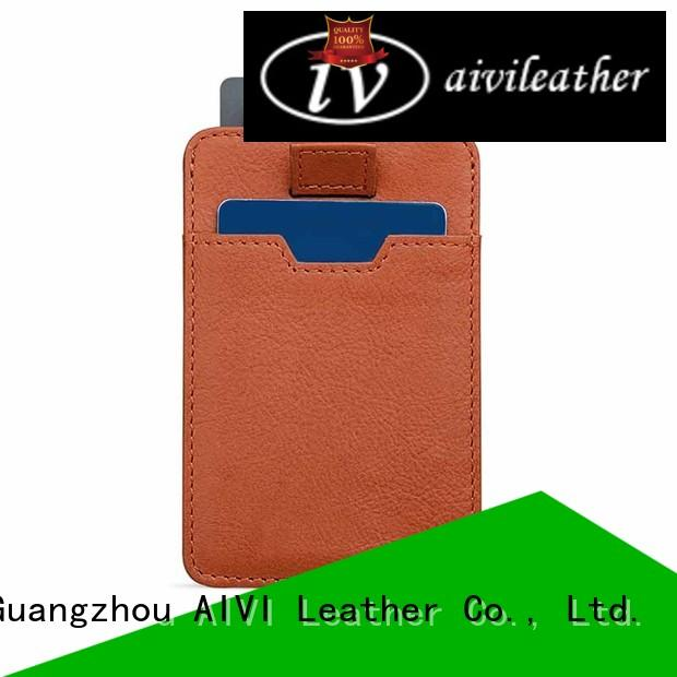 AIVI easy carry mens leather card wallet factory for iphone XS