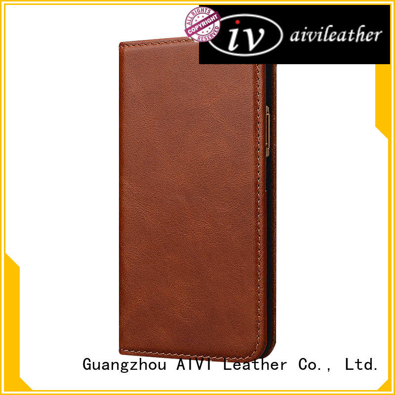 AIVI quality leather phone cases supply for iphone XS