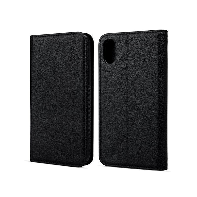 durable black leather iphone case for iphone XS-2