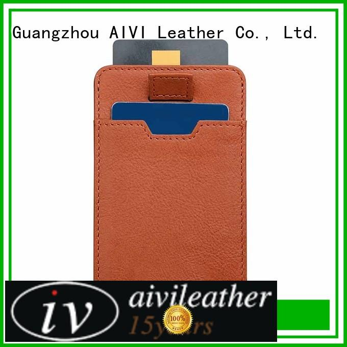 handbag mens leather wallet with coin pocket manufacturer iphone 7/7 plus AIVI
