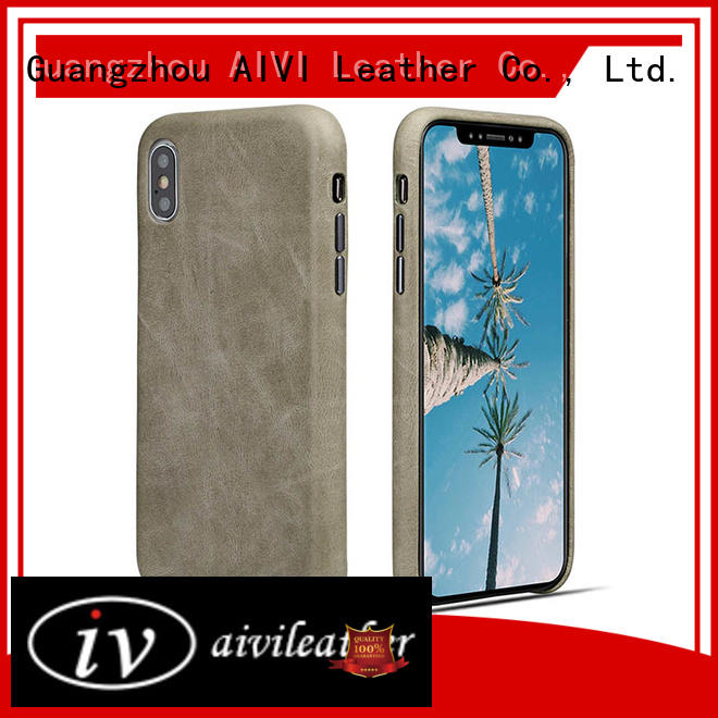 AIVI shell apple genuine leather case factory for iphone 7/7 plus