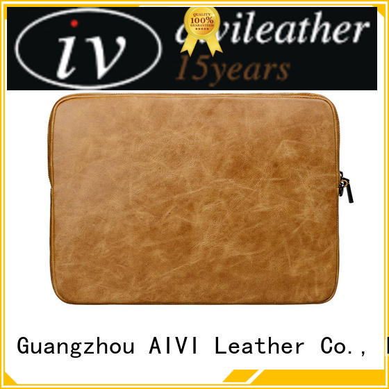 customized laptop leather case laptop easy to carry for notebook computer