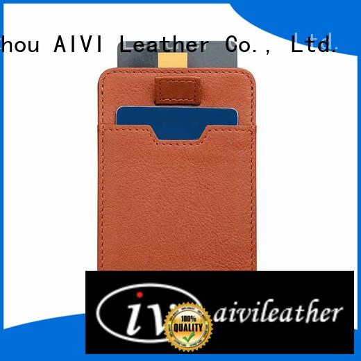 AIVI customized leather card holder wallet supply for iphone 8 / 8plus