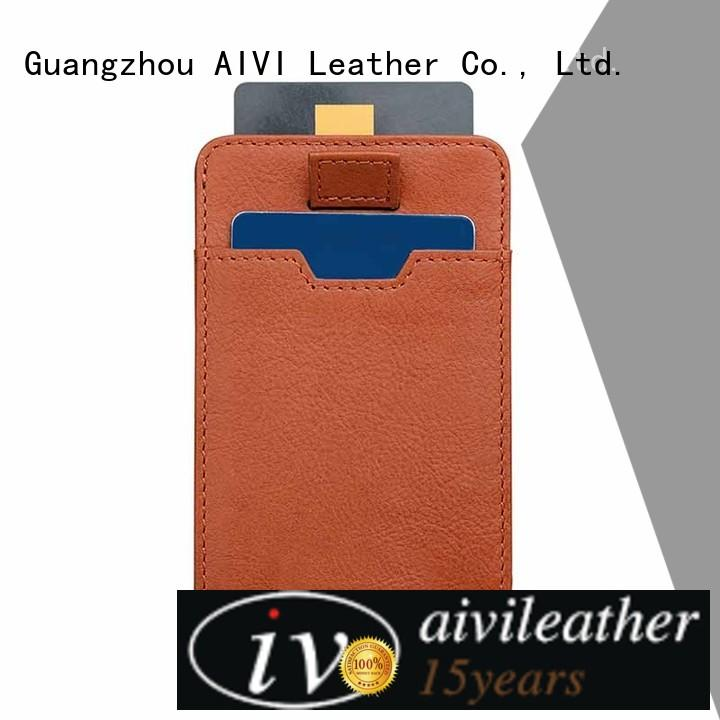 AIVI unisex leather credit card wallet supply for phone XS Max