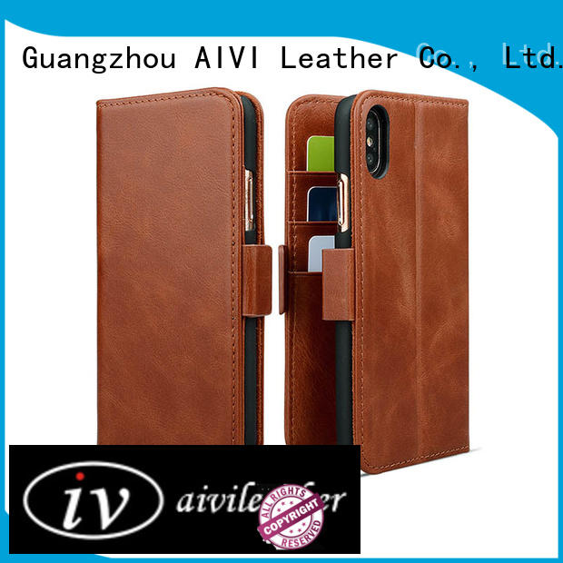 AIVI best leather iphone case online for iphone X