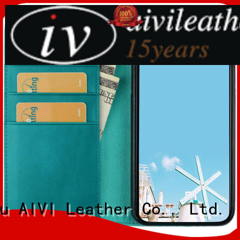 AIVI beautiful leather card case wallet manufacturer for iphone 8 / 8plus