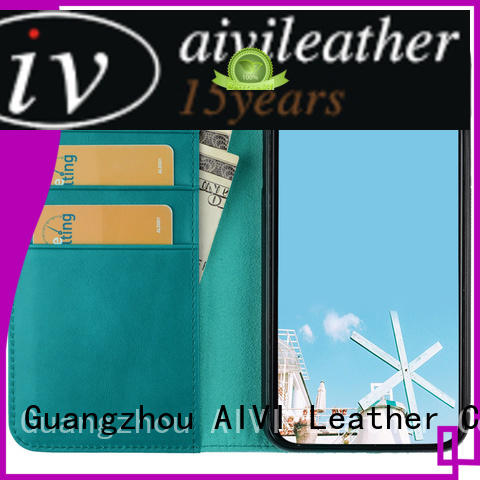high quality mens leather card case wallet for sale for iphone 7/7 plus AIVI