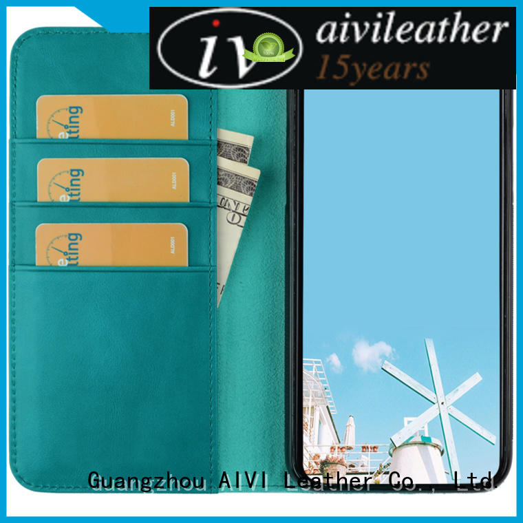 AIVI convenient leather card wallet factory for ipone 6/6plus