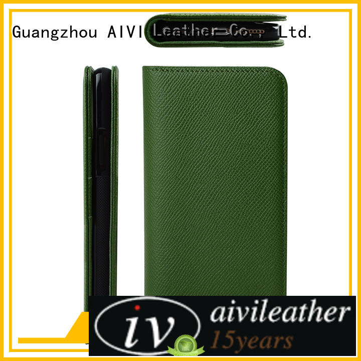 AIVI personalized leather credit card case manufacturer for ipone 6/6plus