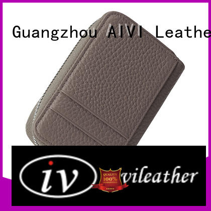 AIVI beautiful mens leather wallet with coin pocket factory for iphone 7/7 plus