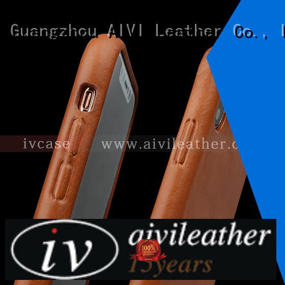 AIVI fashion iphone leather slip case supply for iphone X