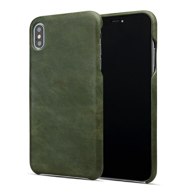 AIVI brown custom leather iphone case for iphone XS-2