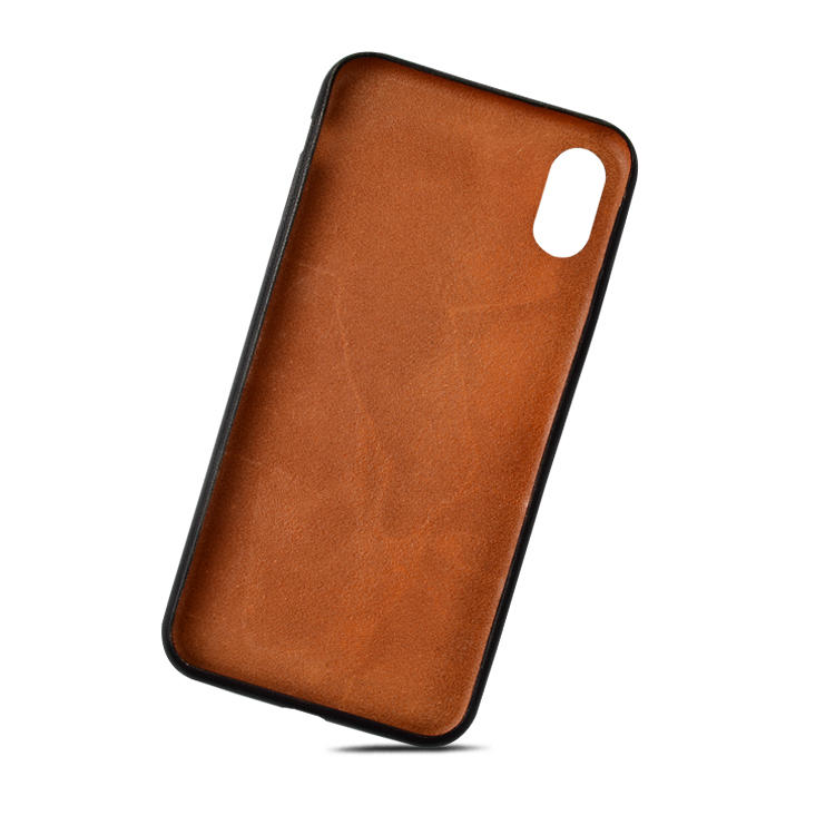 AIVI brown fine leather phone cases online for iphone XR-3