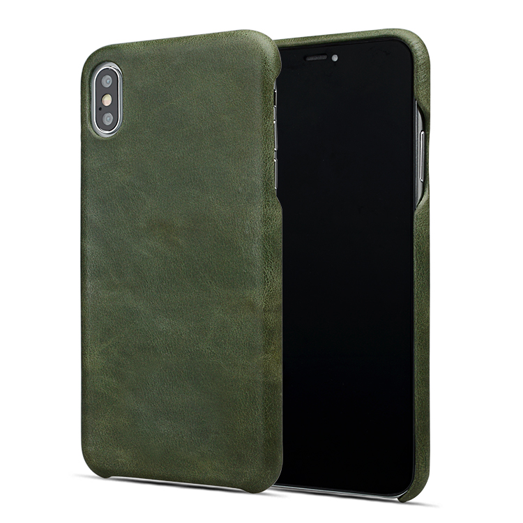 AIVI brown custom leather iphone case for iphone XS-7