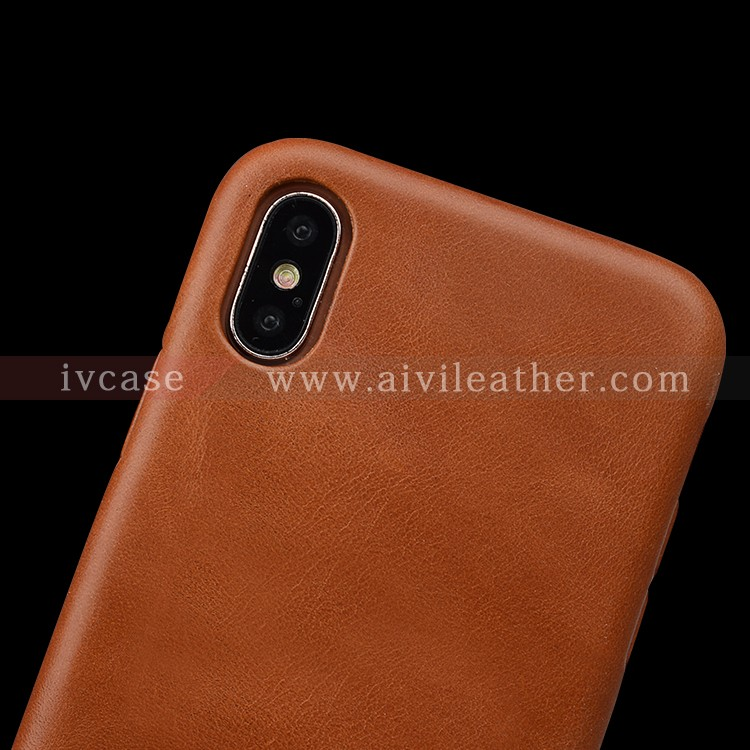 AIVI reliable apple genuine leather case accessories for iphone X-8