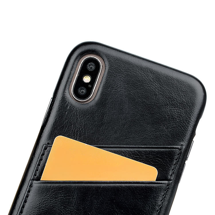 Quality Leather Iphone Case Card holder super slim case for iPhone X/XS