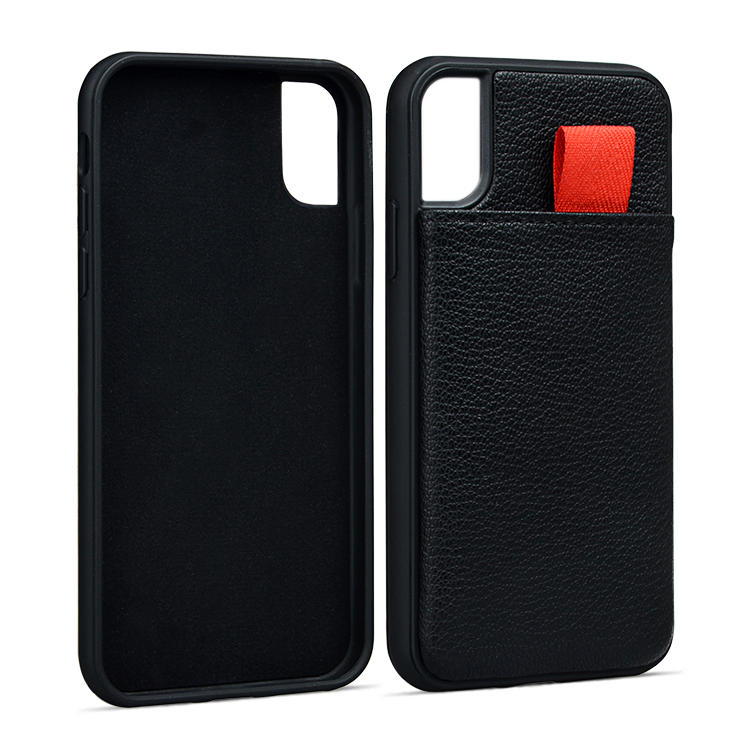 Real Leather Phone Cases Luxury Wallet Mobile Phone Case With Card Slot For iPhone XS