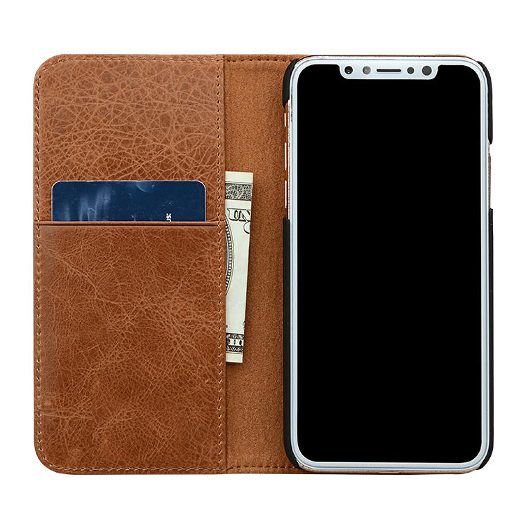 Universal Iphone Leather Flip Case Magnetic For Iphone XS