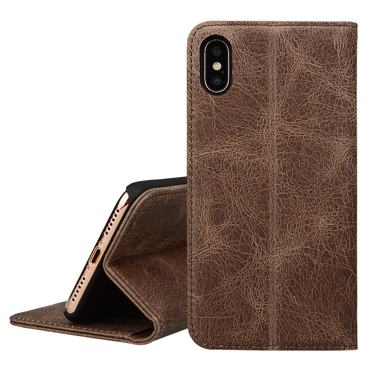 AIVI protection apple tan leather case protector for iphone XR-6