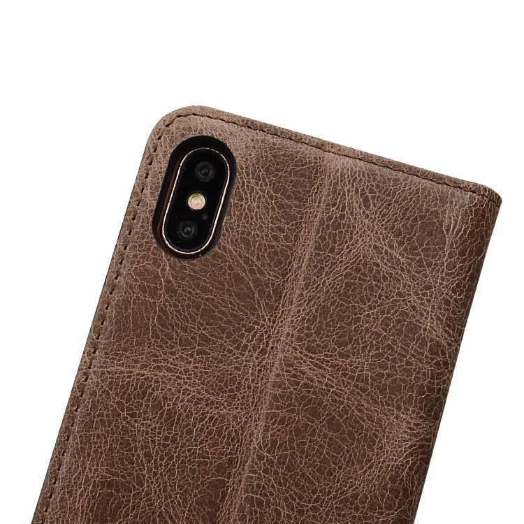 AIVI protection apple tan leather case protector for iphone XR-8