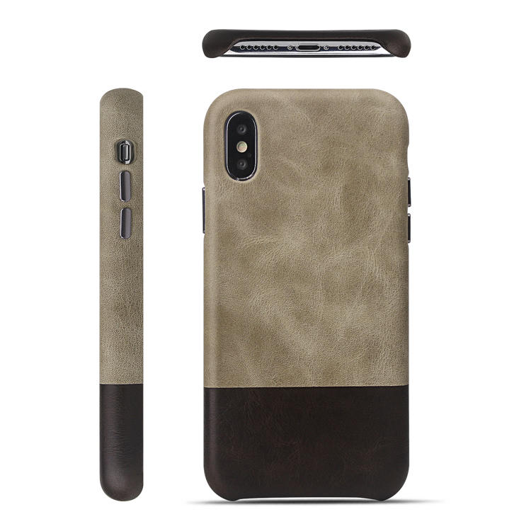 High Quality Real Leather Mobile Phone Case For Iphone XS without PC case Ultrathin Leather Phone Case For Iphone X