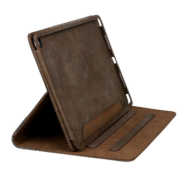 Ultrathin genuine leather material For Ipad Leather Case-9