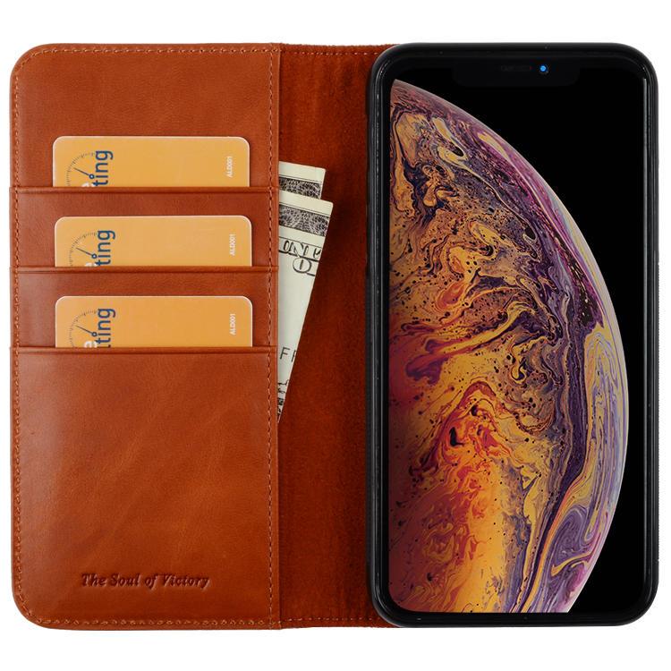 Premium Leather iPhone Case Flip Cover Case For iPhone 11