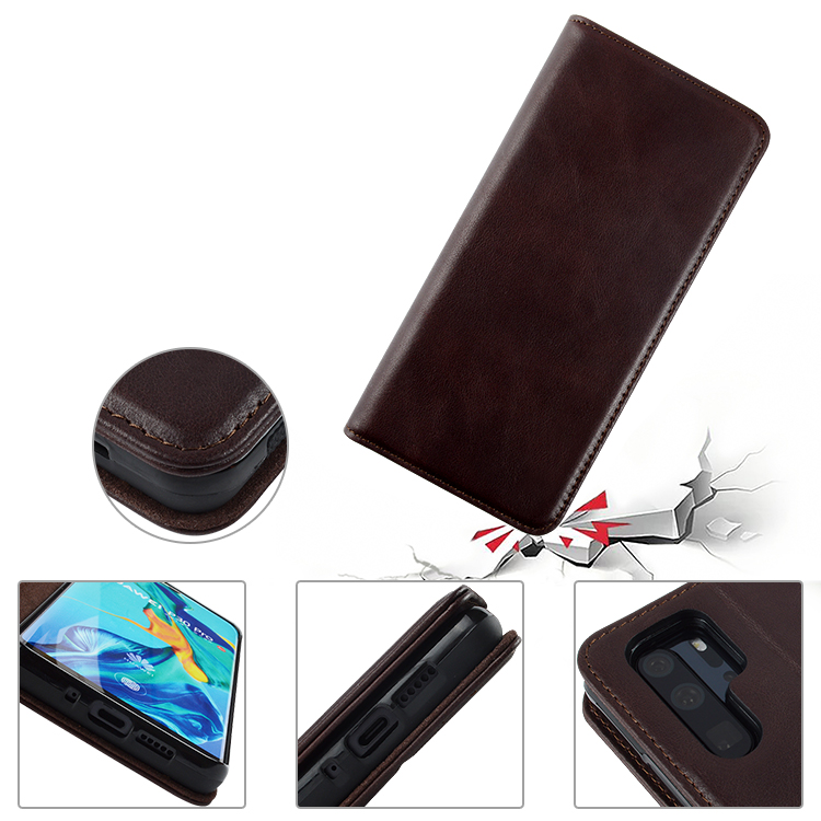 Custom Leather phone Case Pure handmade for HUAWEI P30-4