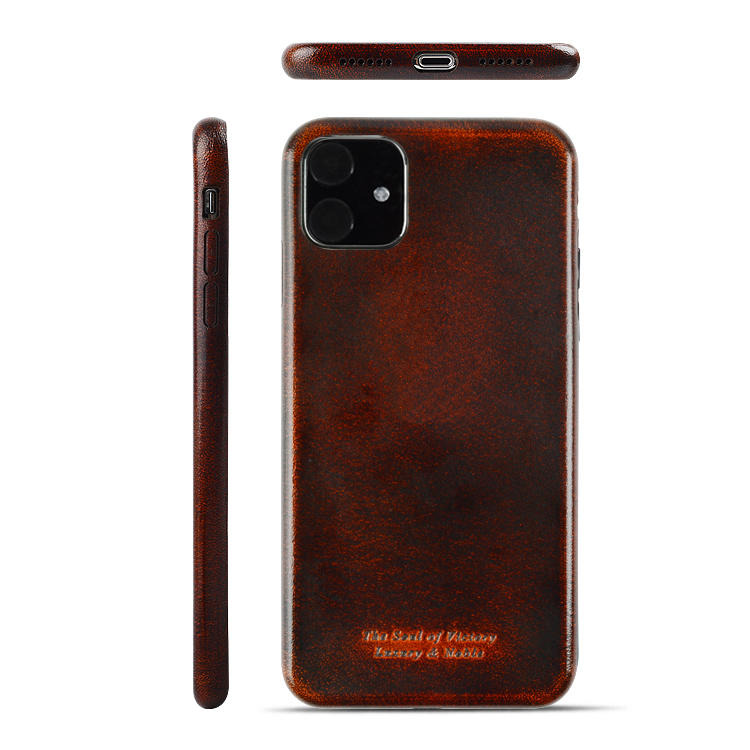 Pure Genuine Leather By Handmade Leather Phone Case For Iphone 11