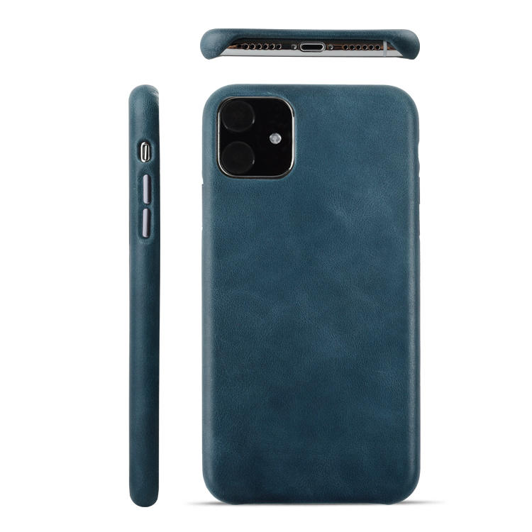 Italian Genuine Leather Cover Case For IPhone 11 Back Phone Case