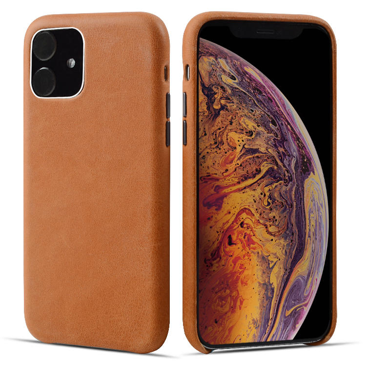 New Full Grain Genuine Leather Phone Case With Card Slot For Apple