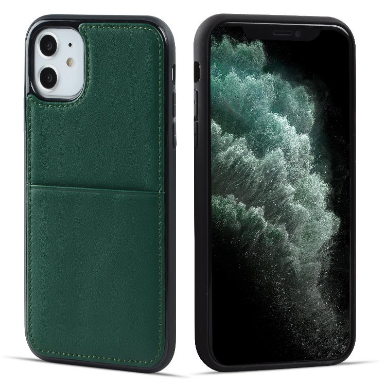 Christmas Handcrafted Construction Leather Phone Case for iPhone 11 Custom Smartphone Case