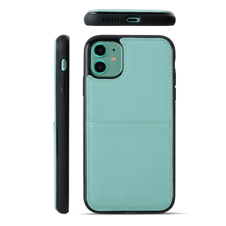 TPU+PC Genuine Leather Back Phone Cases for iPhone 11
