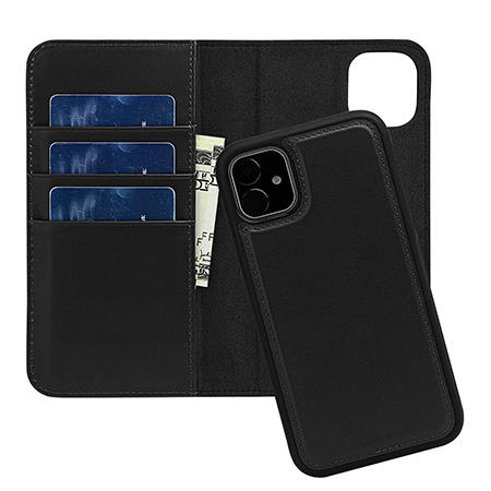 Guangzhou aivi Leather Genuine Leather Detachable Wallet Phone Case For Iphone 11