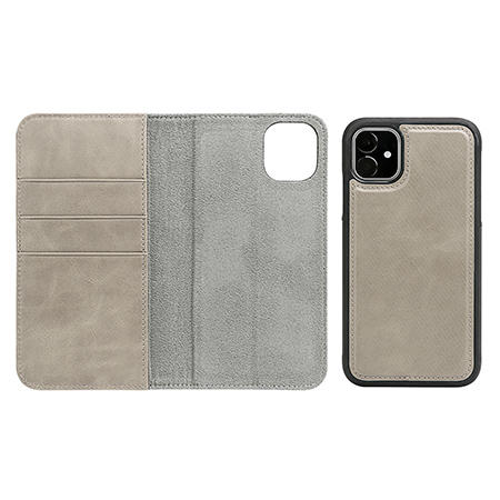 Detachable Wallet Phone Case Real Leather Phone Case For Iphone 11 Pro