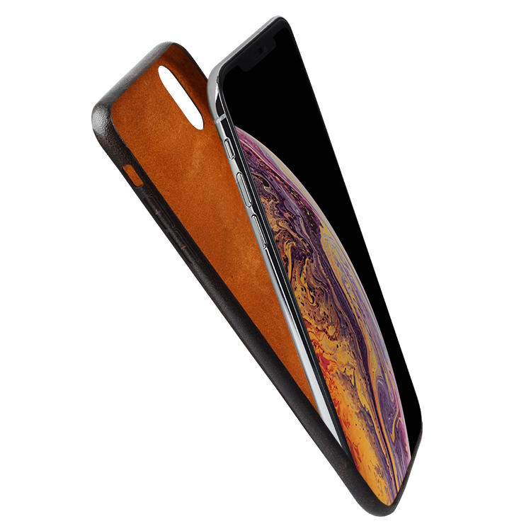 Deluxe Premium Genuine Real Leather Slim wallet Case for Iphone XS