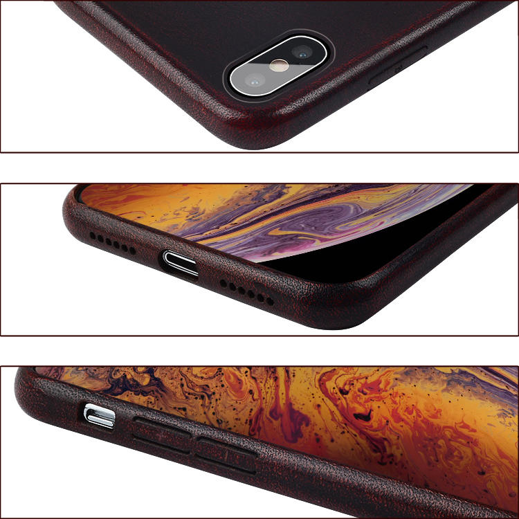 Genuine Leather Back Phone Case For Iphone X Xs Xr Xs Max