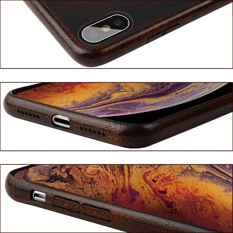 AIVI brown fine leather phone cases online for iphone XR