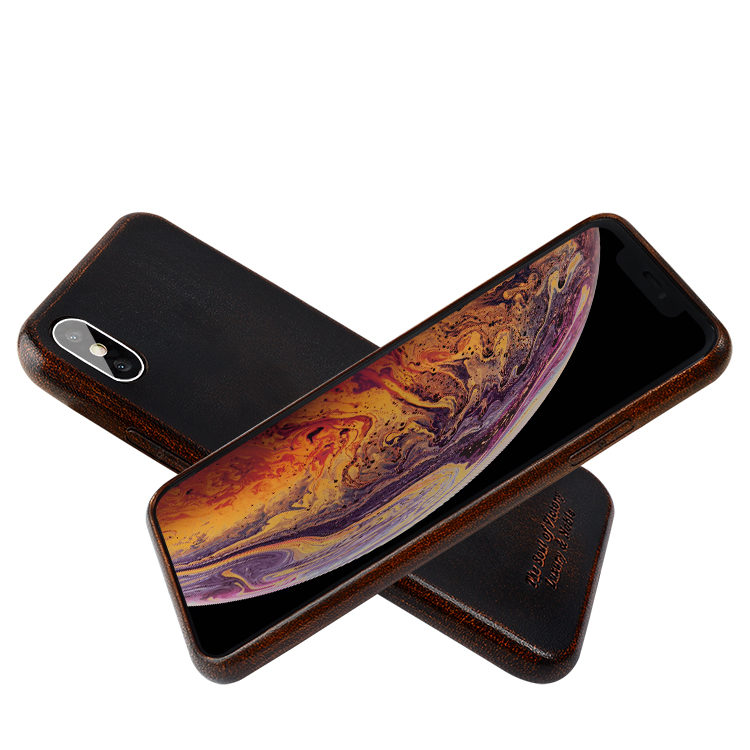 AIVI brown fine leather phone cases online for iphone XR-8