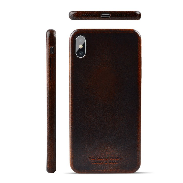 AIVI brown fine leather phone cases online for iphone XR-9