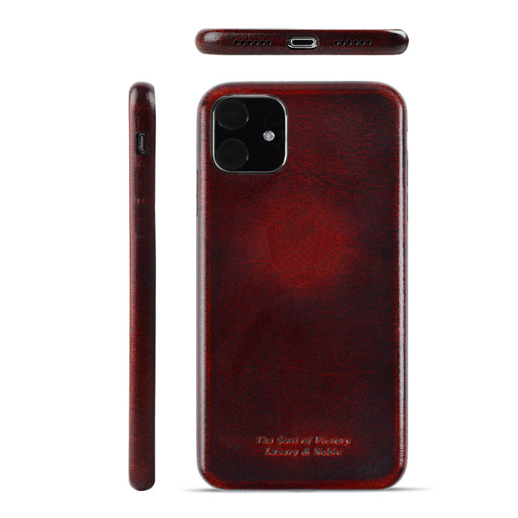 Popular 100% Real Cowhide Leather 360 Phone Protective Case For iPhone 11 Pro Max Leather Phone Case