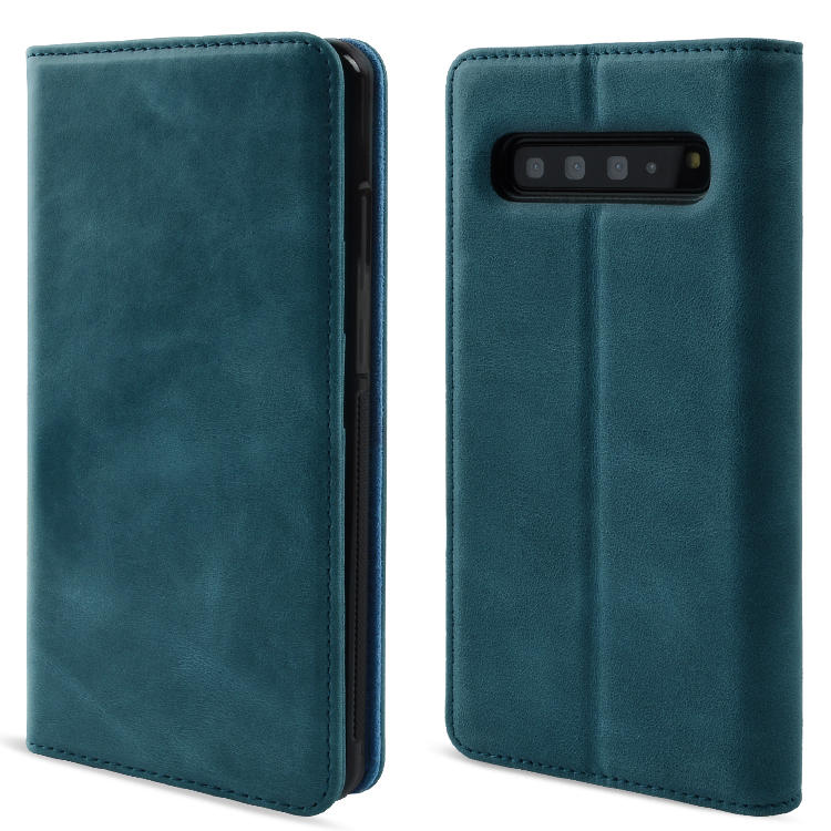 High Quality Genuine Leather Phone Case For Samsung Galaxy S10 5G Leather Wallet Case Magnetic Closure Flip Stand Function