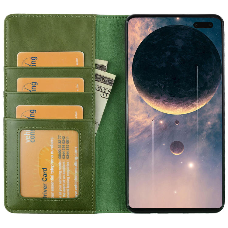 For Samsung Galaxy S10 5G Flip Wallet Genuine Leather Luxury Stand Function Case Cover