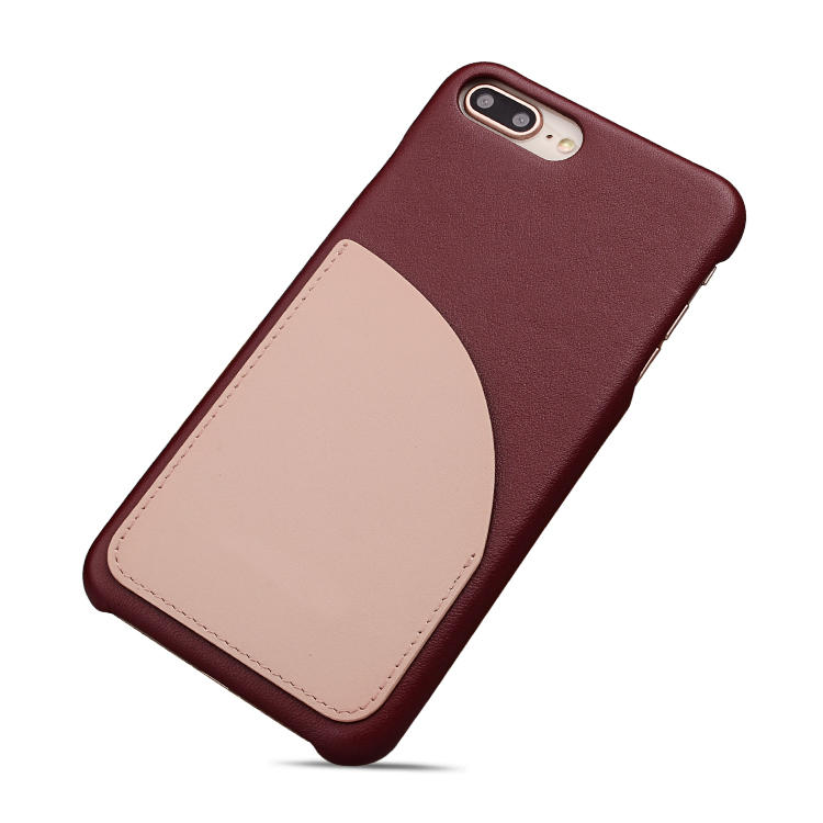 Luxury Real Leather Cover for iPhone 8 Plus Back Case